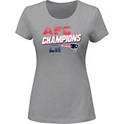 NFL Women's AFC Conference Champions New England Patriots Wonderstruck Grey T-Shirt