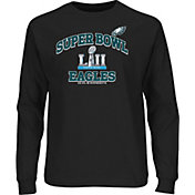 NFL Youth Super Bowl LII Bound Philadelphia Eagles Heart and Soul Black Long Sleeve Shirt