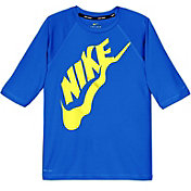 Nike Boys' Solid Half Sleeve Hydro Rash Guard