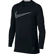 Nike Boys' Pro Fitted Long Sleeve Shirt