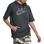 Nike Men's Sportswear Washed Short Sleeve Hooded Pullover
