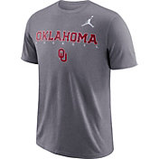 Jordan Men's Oklahoma Sooners Grey Football Dri-FIT Facility T-Shirt