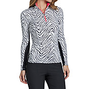 Tail Women's Long Sleeve Printed ¼ Zip Golf Mock Neck