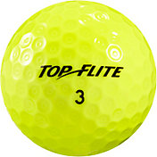 Top Flite D2+ Feel Yellow Personalized Golf Balls – 15 Pack