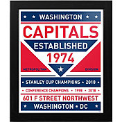 That's My Ticket 2018 Stanley Cup Champions Washington Capitals Team Sign Framed Print