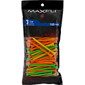 Maxfli 3.25'' Fluorescent Golf Tees – 100-Pack